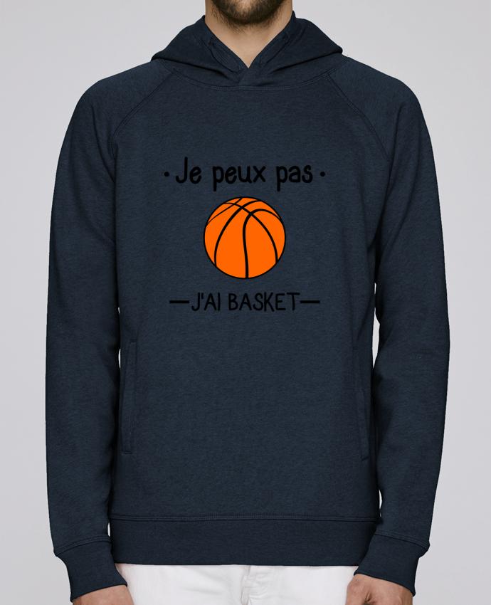 Sweat Capuche Homme Stanley Base Je peux pas j'ai basket,basketball,basket-ball par Benichan