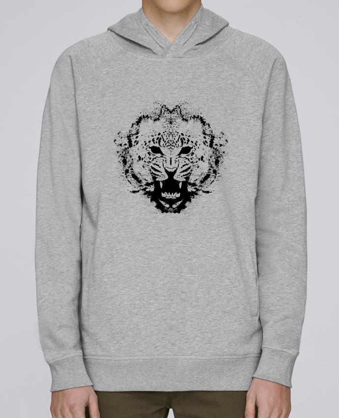 Sweat Capuche Homme Stanley Base leopard par Graff4Art