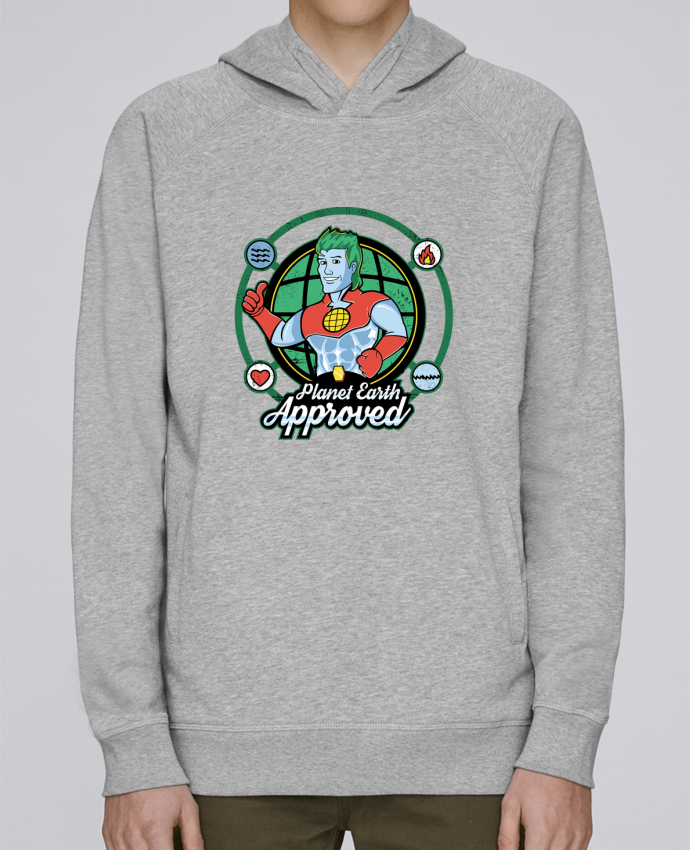 Sweat Capuche Homme Stanley Base Planet Earth Approved par Kempo24
