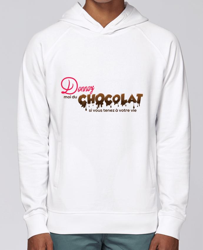Sweat Capuche Homme Stanley Base Donnez moi du chocolat !! par tunetoo