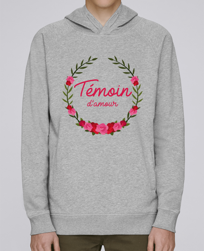 Sweat Capuche Homme Stanley Base Témoin d'amour par FRENCHUP-MAYO