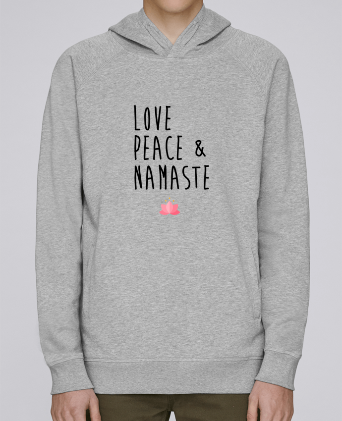 Sweat Capuche Homme Stanley Base Love, Peace & Namaste par tunetoo