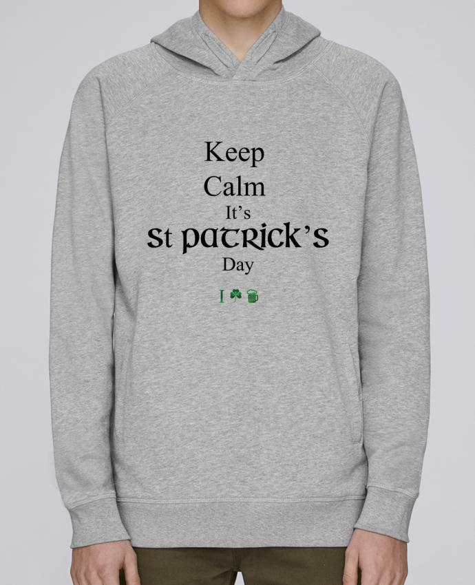 Sweat Capuche Homme Stanley Base Keep calm it's St Patrick's Day par tunetoo