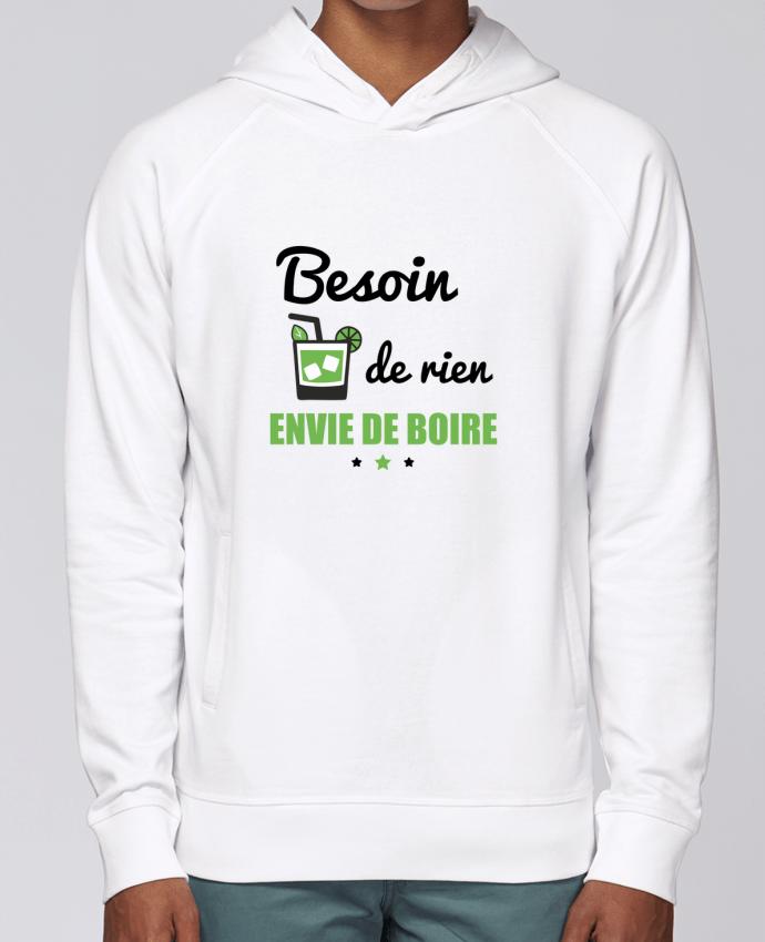 Sweat Capuche Homme Stanley Base Besoin de rien, envie de boire par Benichan