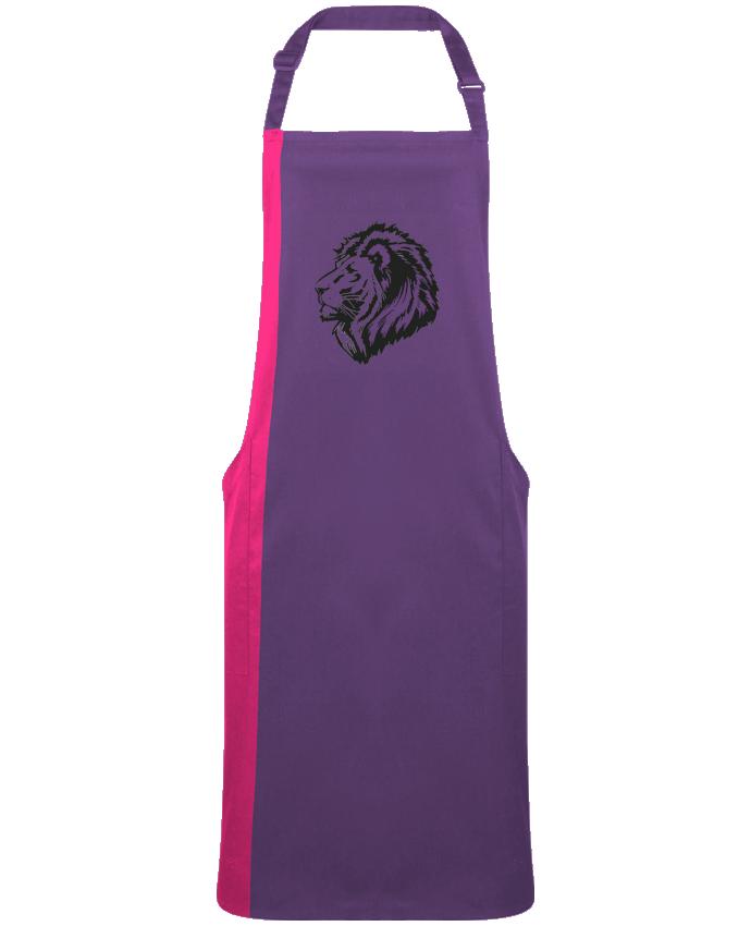 Tablier Long Bicolore Proud Tribal Lion par  Eleana