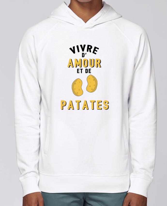 Sweat Capuche Homme Stanley Base Vivre d'amour et de patates par tunetoo
