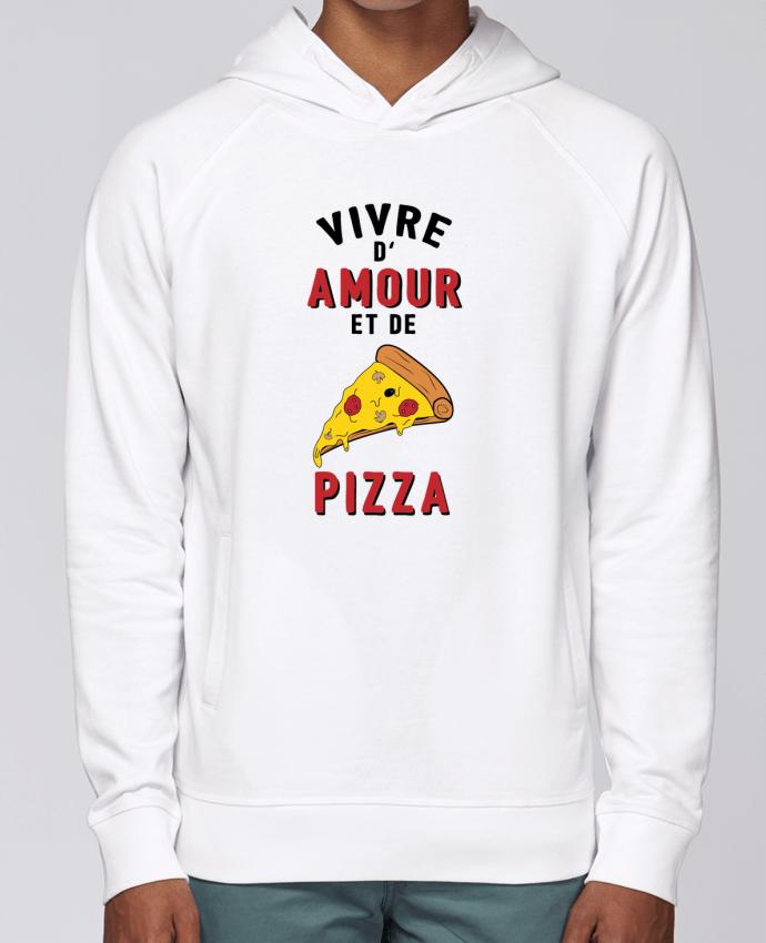 Sweat Capuche Homme Stanley Base Vivre d'amour et de pizza par tunetoo