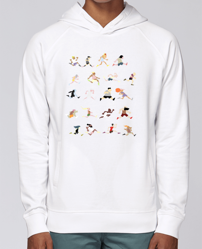 Sweat Capuche Homme Stanley Base Runners ! par Tomi Ax - tomiax.fr