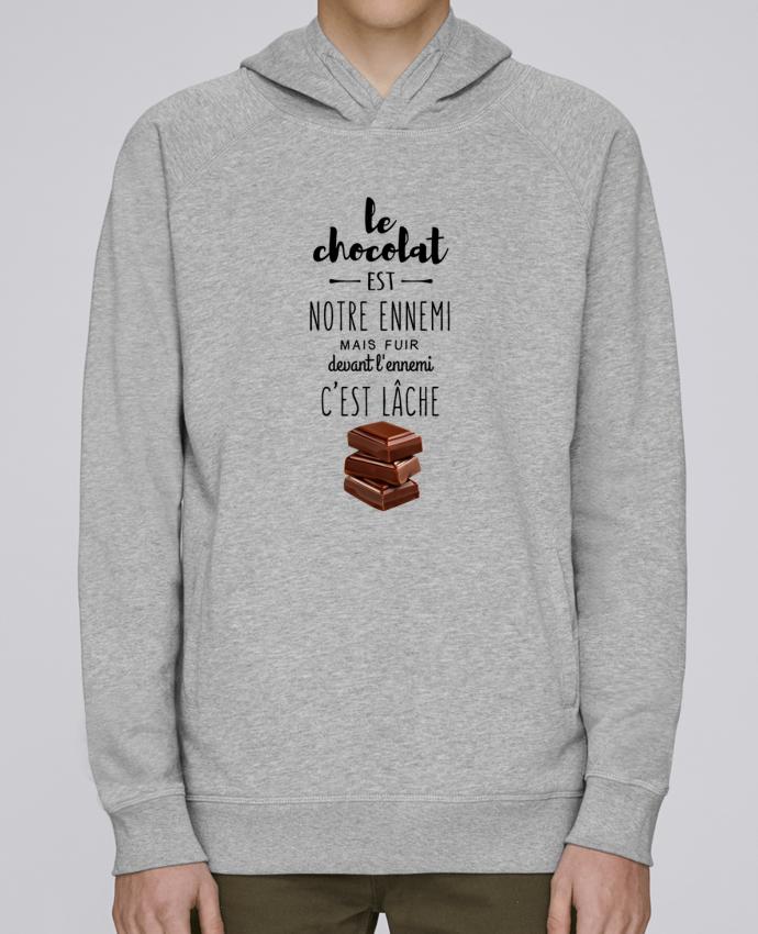 Sweat Capuche Homme Stanley Base chocolat par DesignMe