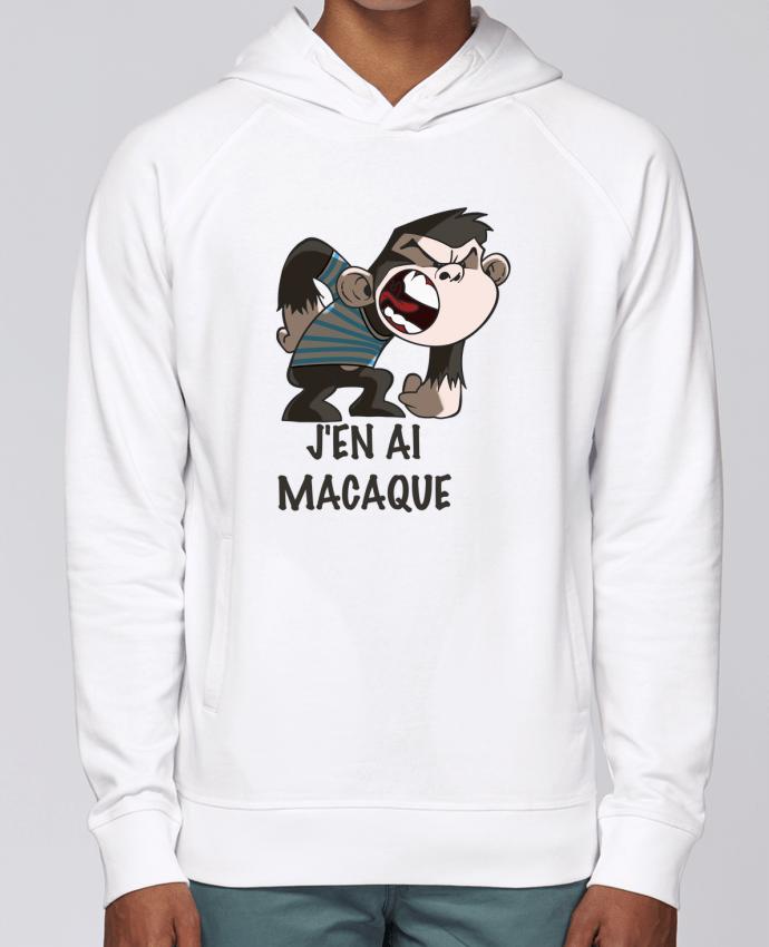 Sweat Capuche Homme Stanley Base J'en ai macaque ! par Le Cartooniste