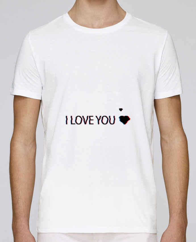 T-Shirt Col Rond Stanley Leads I Love You Glitch par Eleana