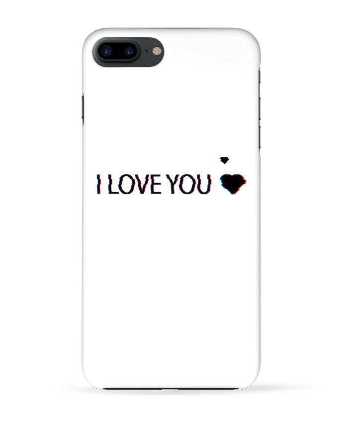 coque 3d iphone 7  i love you glitch eleana