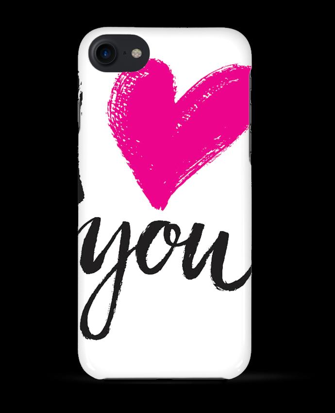 coque iphone 7 transparent love