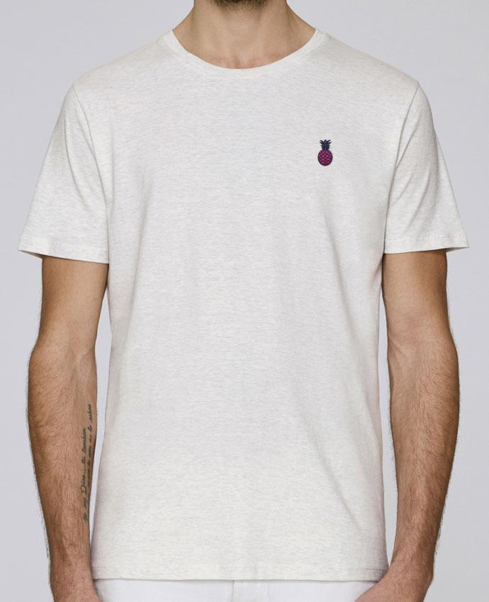 T-Shirt Col Rond Stanley Leads brodé Ananas violet par tunetoo
