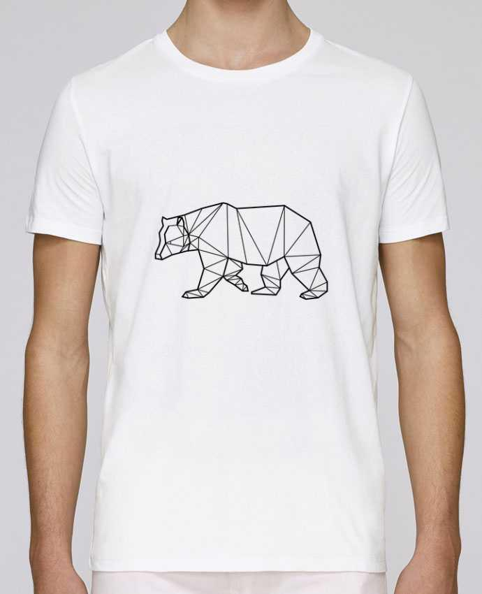 T-Shirt Col Rond Stanley Leads Bear Animal Prism par Yorkmout