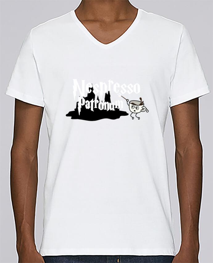 T-shirt Col V Homme Stanley Relaxes Nespresso Patronum par tunetoo