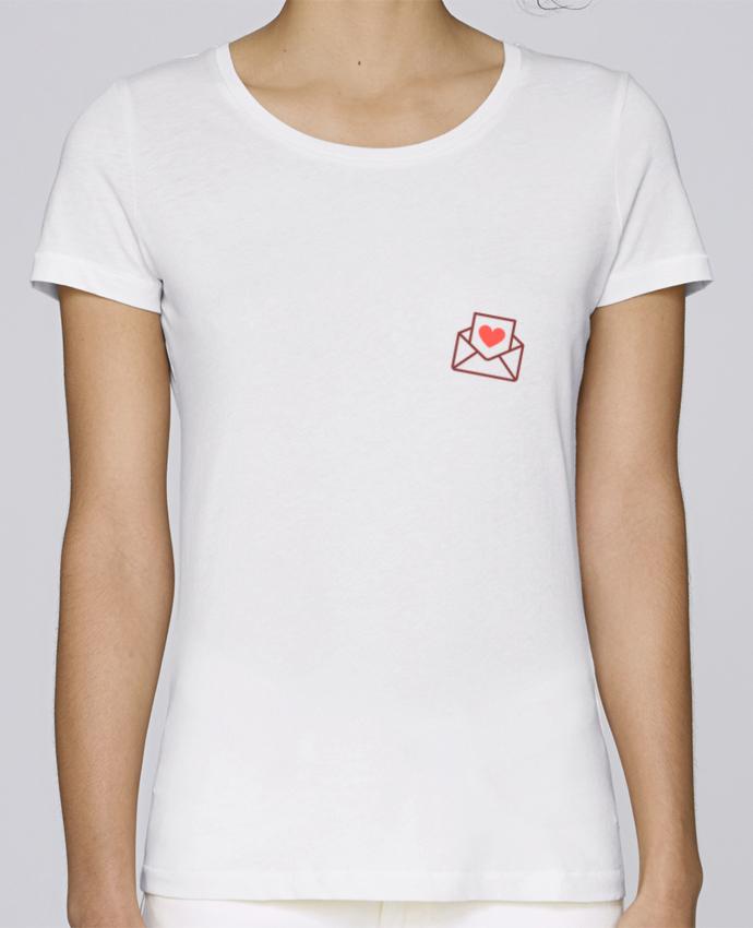 T-shirt Femme Stella Loves Lettre d'amour par Nana