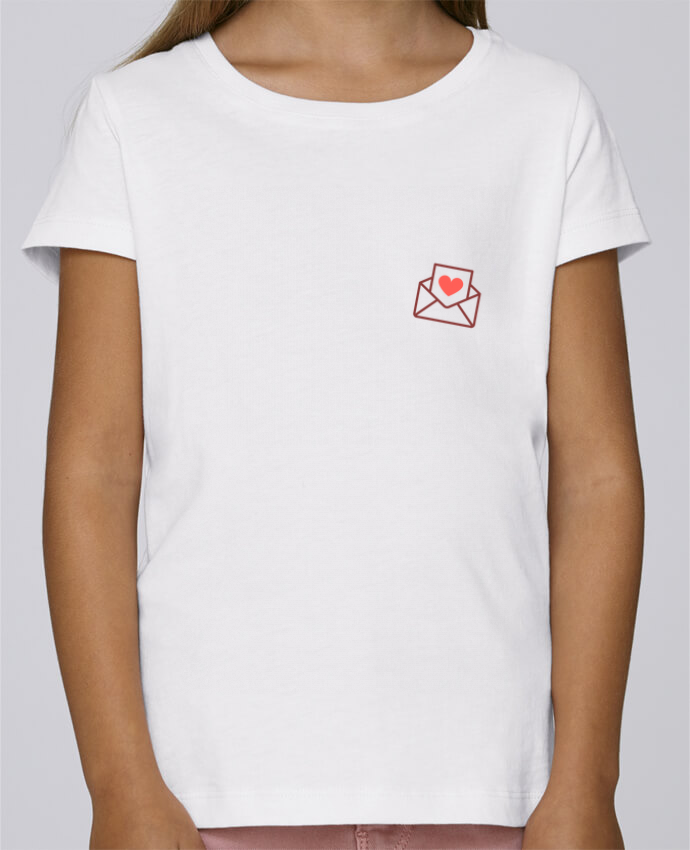 T-shirt Fille Mini Stella Draws Lettre d