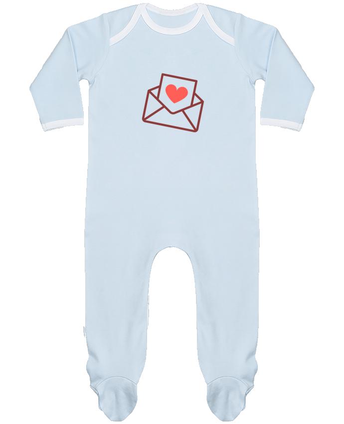 Pyjama Bébé Manches Longues Contrasté Lettre d'amour par Nana