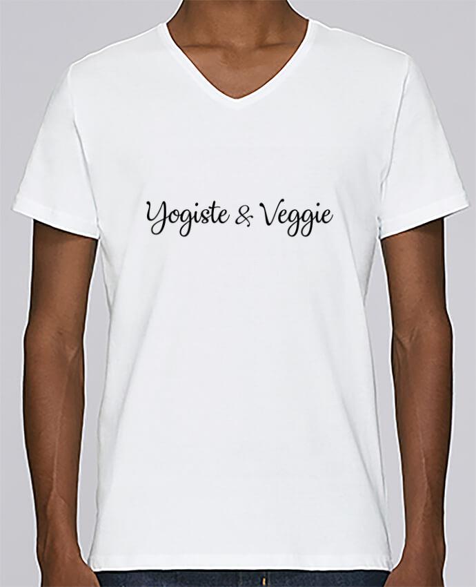 T-shirt Col V Homme Stanley Relaxes Yogiste et veggie par Nana