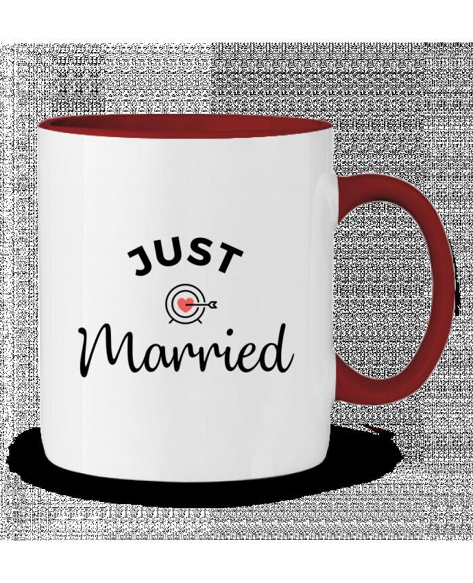Mug en Céramique Bicolore Just Married Nana
