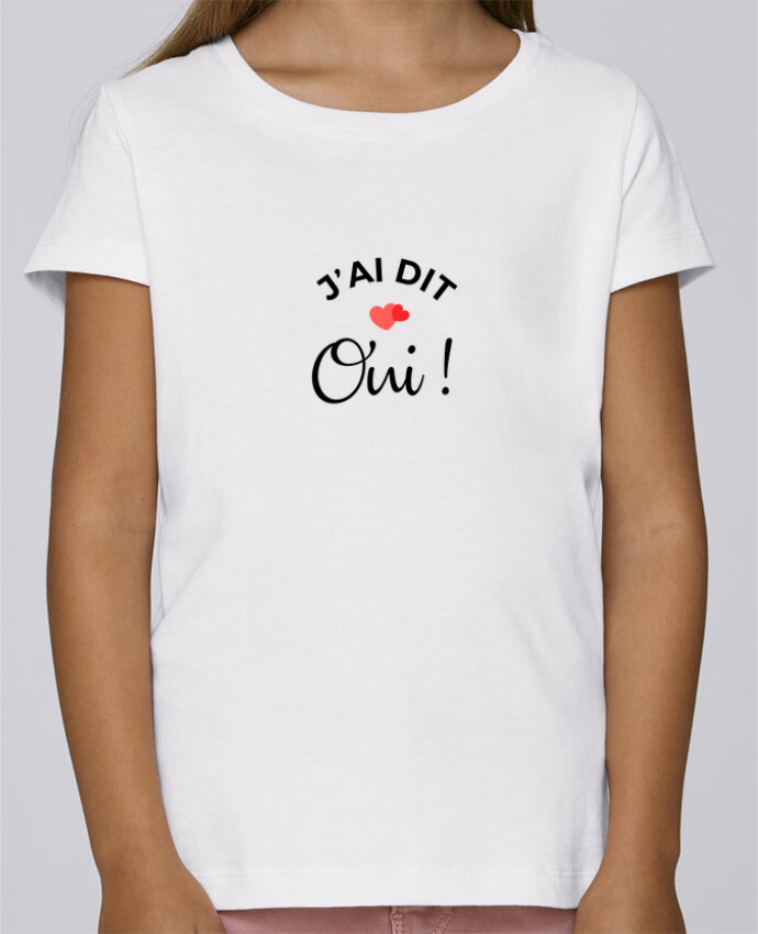 T-shirt Fille Mini Stella Draws J'ai dit oui ! par Nana