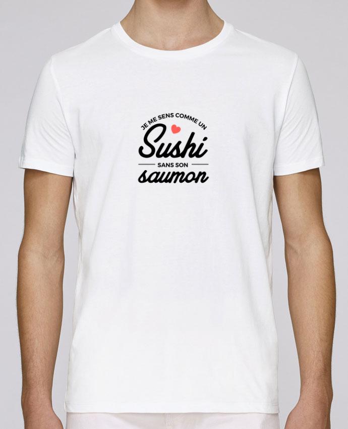 T-Shirt Col Rond Stanley Leads Je me sens comme un sushi sans son saumon par Nana