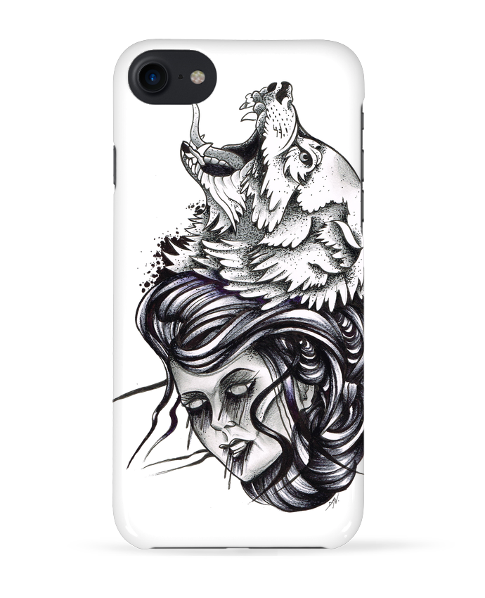 Coque 3D Iphone 7 Femme & Loup de david