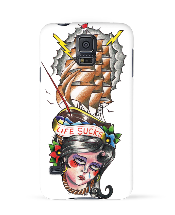 Coque 3D Samsung Galaxy S5 Life Sucks par david
