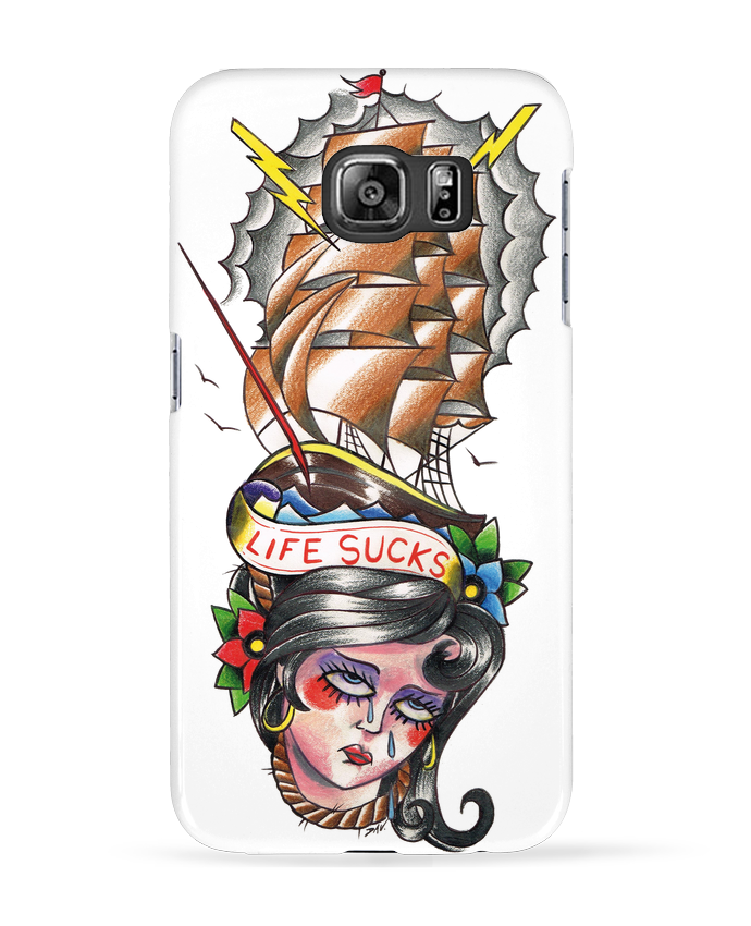 Coque 3D Samsung Galaxy S6 Life Sucks - david