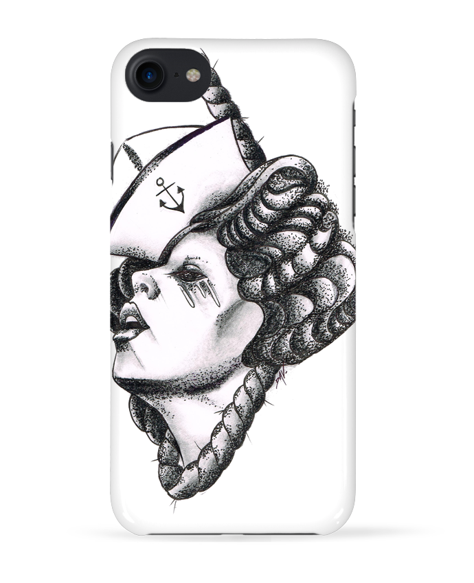 Coque 3D Iphone 7 Femme capitaine de david