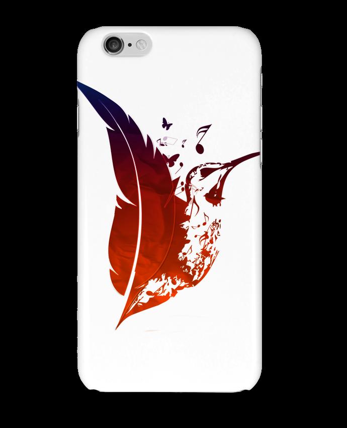 Coque 3D Iphone 6 plume colibri par Studiolupi