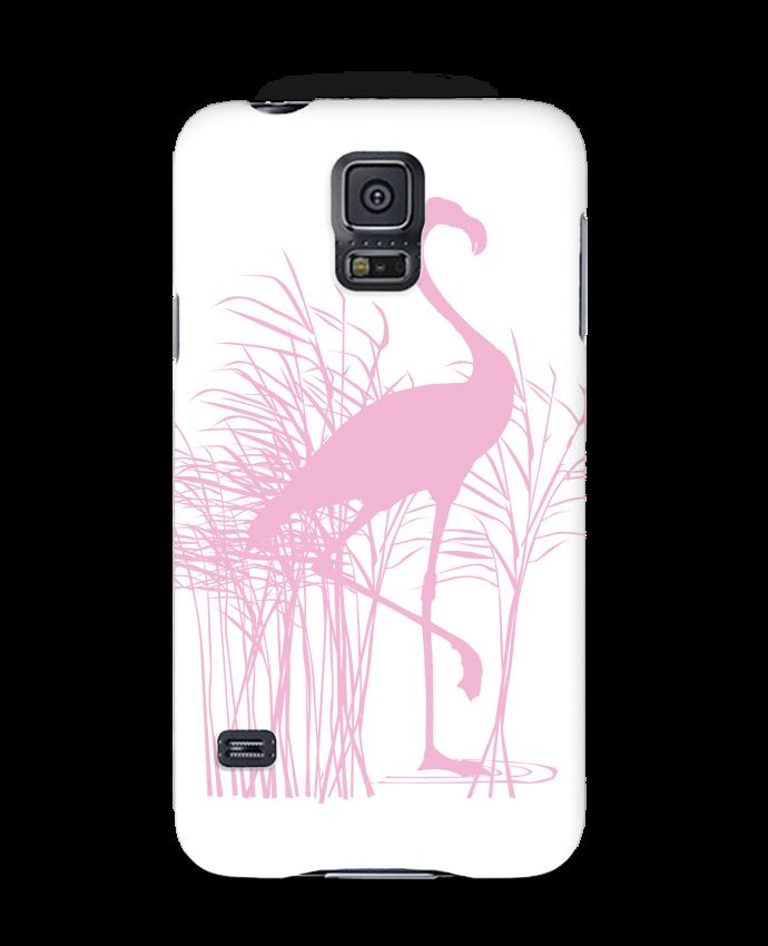 Coque 3D Samsung Galaxy S5 Flamant rose dans roseaux par Studiolupi