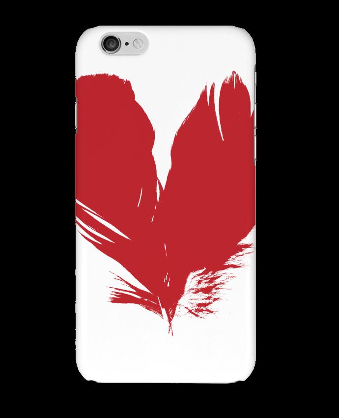 Coque 3D Iphone 6 coeur de plumes par Studiolupi