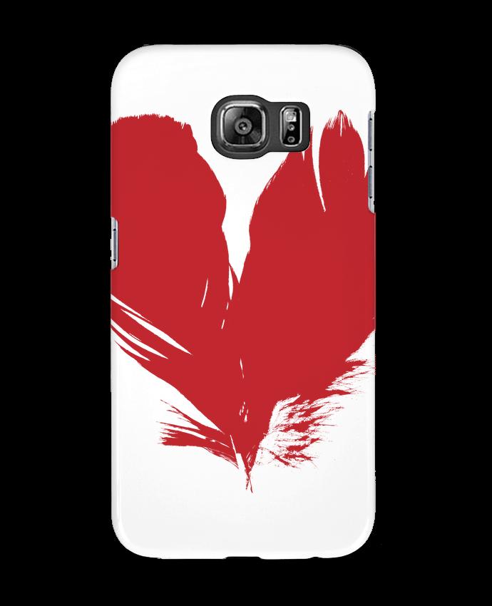 Coque 3D Samsung Galaxy S6 coeur de plumes - Studiolupi