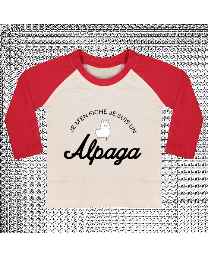 T-shirt Bébé Baseball Manches Longues Alpaga par Nana