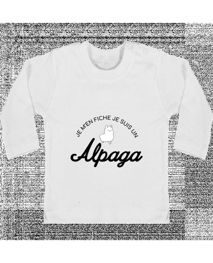 T-shirt Bébé Manches Longues Boutons Pression Alpaga manches longues du designer Nana