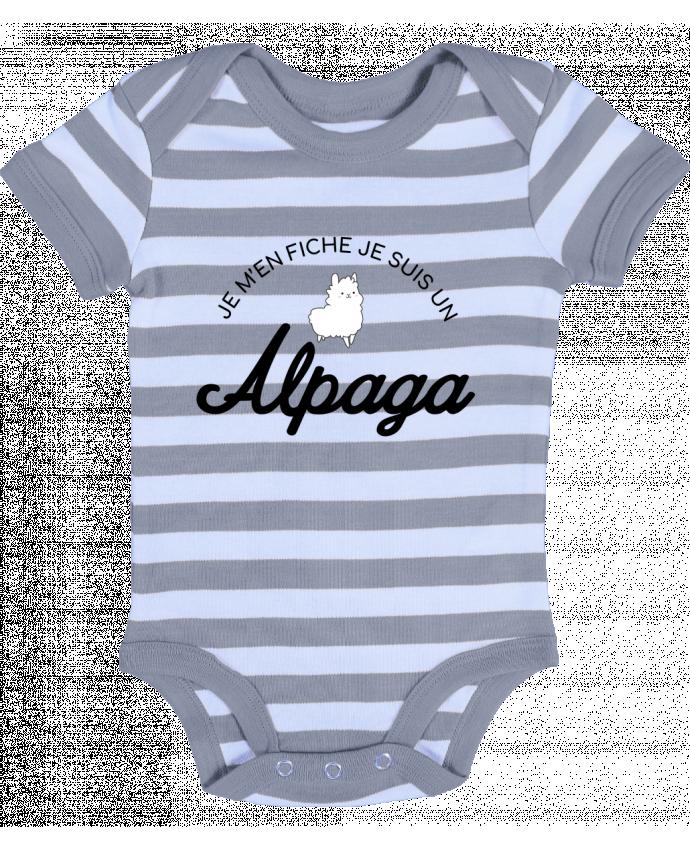 Body Bébé à Rayures Alpaga - Nana