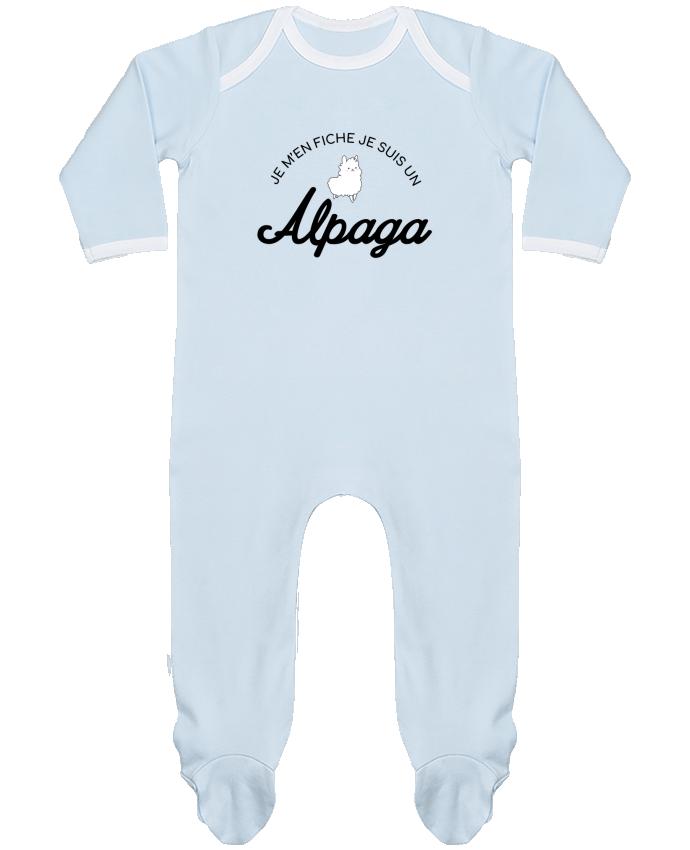 Pyjama Bébé Manches Longues Contrasté Alpaga par Nana