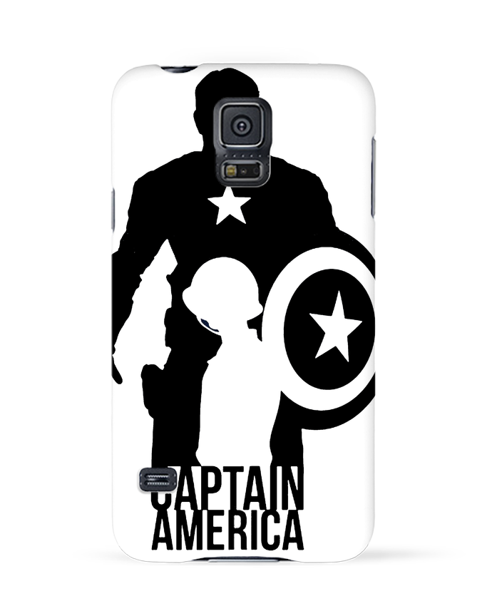 Coque 3D Samsung Galaxy S5 Captain america par Kazeshini