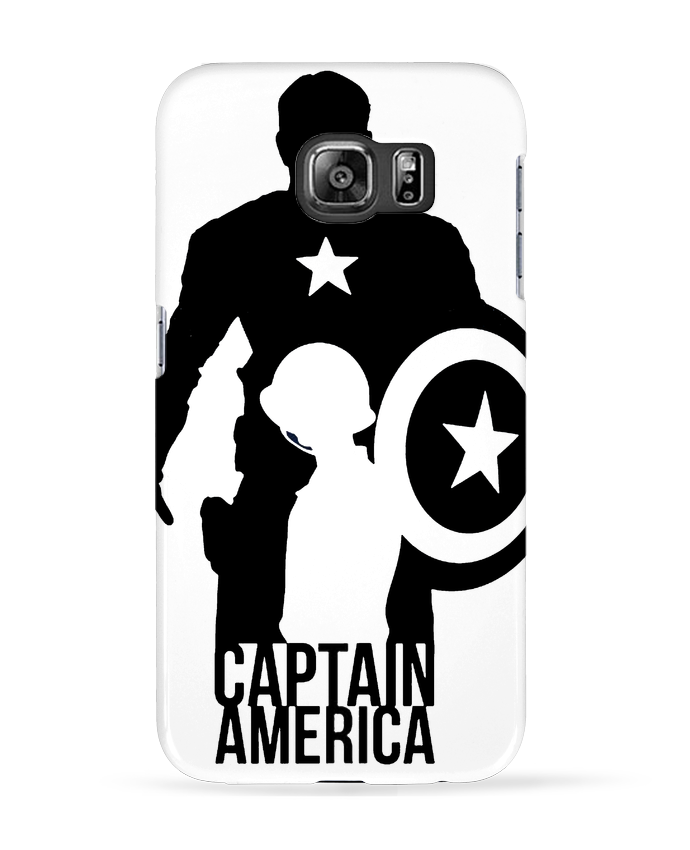 Coque 3D Samsung Galaxy S6 Captain america - Kazeshini