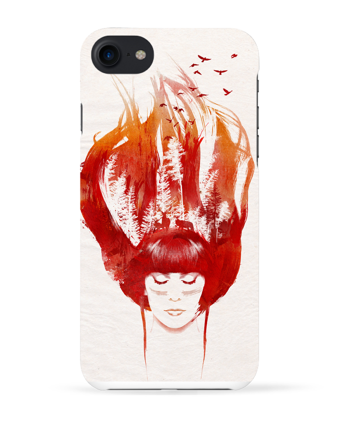 Coque 3D Iphone 7 Burning forest de robertfarkas