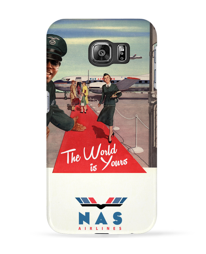 Coque 3D Samsung Galaxy S6 Nas Airlines - Ads Libitum