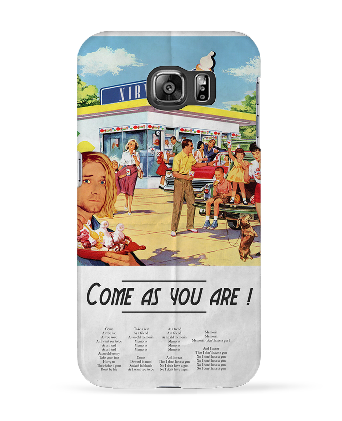 Coque 3D Samsung Galaxy S6 Come as you are - Ads Libitum