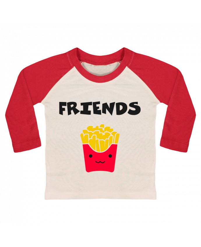 T-shirt Bébé Baseball Manches Longues BEST FRIENDS FRIES par tunetoo