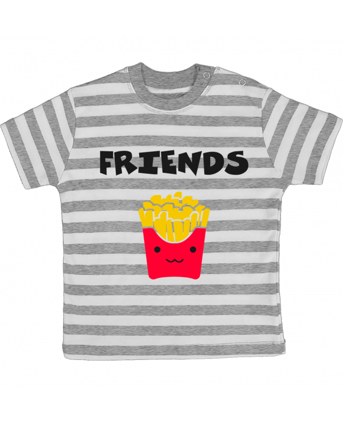 T-shirt Bébé à Rayures BEST FRIENDS FRIES par tunetoo