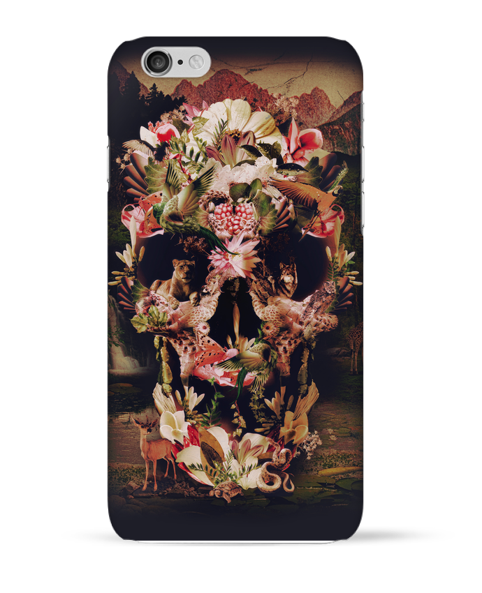 Coque 3D Iphone 6 Jungle Skull par ali_gulec