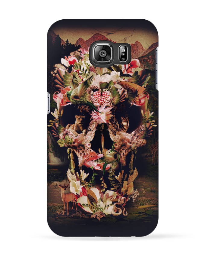 Coque 3D Samsung Galaxy S6 Jungle Skull - ali_gulec