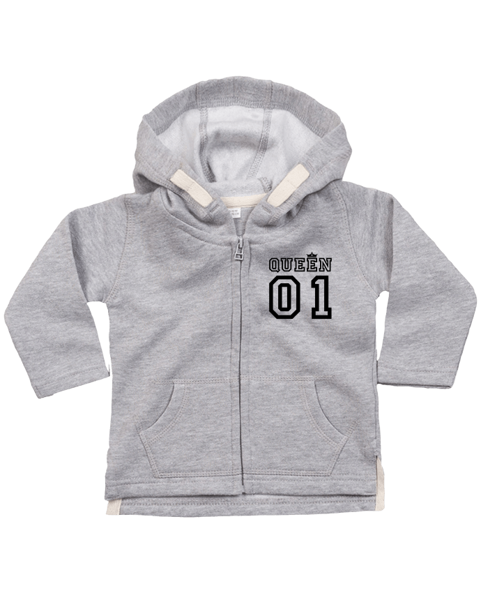 Sweat Bébé Zippé à Capuche Queen 01 par tunetoo