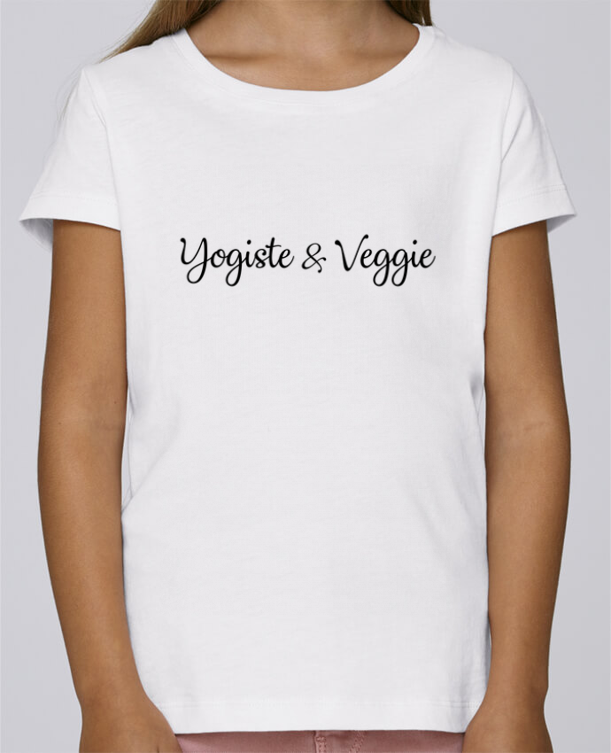 T-shirt Fille Mini Stella Draws Yogiste et veggie par Nana
